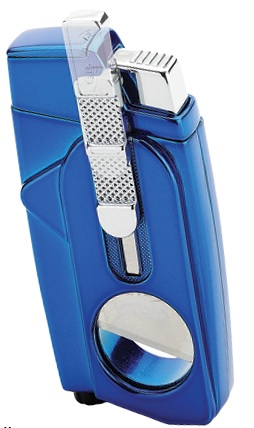 Xcalibur Double Torch, with Built-in Cutter - Blue