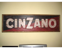 Handcrafted Cinzano Classic Sign - Handcrafted