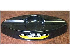 Cuban Cohiba Ashtray Oval, Melamine - Black