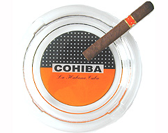 Cuban Cohiba Glass 4 Cigar Ashtray