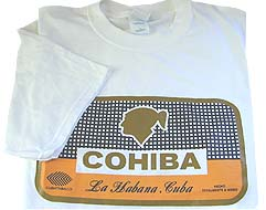Cohiba Red Dot Cohiba T-Shirt, Box Logo, White
