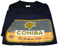 Cuban Cohiba Box Logo T-Shirt - Black