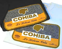 Cuban Cohiba Box Logo T-Shirt Combo, 1 White & 1 Black