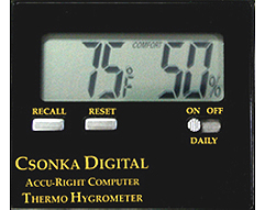 Csonka Accu-Right Digital Thermo-Hygrometer