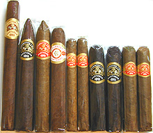 Handcrafted Partagas Sampler, 10 Cigars
