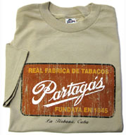 Partagas (Cuba) Factory Sign T-shirt - Tan