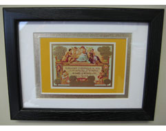 Vintage Partagas Cigar Box Label - Matted & Framed