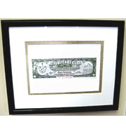 Sancho Panza Cuban Cigar Warranty Seal Print - Matted & Framed