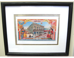 Vintage Garantizados Cuban Cigar Factory Label Print - Matted & Framed