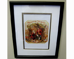 Habanos Montecristo Vintage Cigar Box Label Print - Matted & Framed