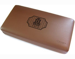 Cuban Trinidad Logo Leather Travel Humidor - Napa Leather