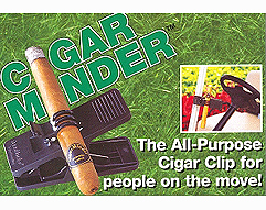 The Cigar Minder Golfers Cigar Clip