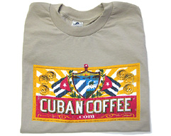 CC Cuban Coffee Logo T-Shirt - Tan