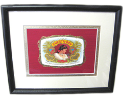 Cuesta Rey Cigar Box Lid - Matted & Framed, 9 x 11