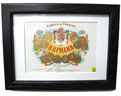 H. Upmann Cigar Box Lid - Matted & Framed, 6 x 8