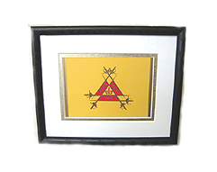 Classic Montecristo Cigar Box Lid - Matted & Framed, 9 x 11