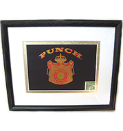 Punch (Hon.) Cigar Box Lid - Matted & Framed
