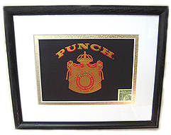 Classic Punch Cigar Box Lid - Matted & Framed, 9 x 11