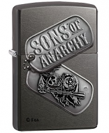 Sons of Anarchy by Black Crown SOA Dog Tags Zippo Lighter