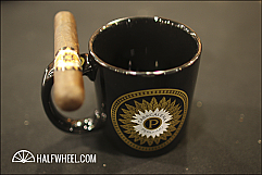 Perdomo Ceramic Coffee Mug, with cigar rest