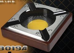NEW!: Cohiba Style, 4 Cigar Ashtray - Black