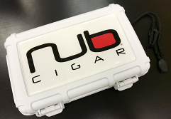 Nub Cigars Logo Heavy Duty Travel Case, Holds 5-8 Cigars