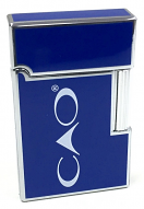 CAO Italia Flint Lighter, High Gloss Blue, Steel