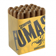 Camacho Scorpion Fumas, Connecticut Robusto - Bundle of 16