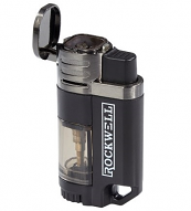 Rockwell Quad - 4 Torch Lighter, Black