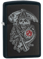 Sons of Anarchy by Black Crown Samcro Reaper Patch Logo Zippo Lighter