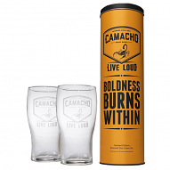 Camacho Corojo Live Loud, Set of 2 Limited Edition Pint Glasses