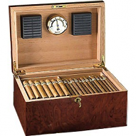 IDC 100 Cigar Capacity Humidor - Burlwood finish