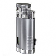 Trimax Triple Flame Lighter - Chrome/Silver