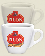 Pilon Demitasse Set of 4 Cups & Saucers