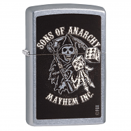 Sons of Anarchy by Black Crown SOA - Mayhem Inc. Zippo Lighter
