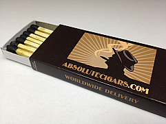 Classic Cigar Matches - Case of 25 Boxes (375 Matches)