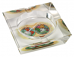 Habano Mundial Crystal Cigar Ashtray, 4 Cigar