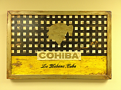 Cuban Cohiba Distressed Factory Sign - Handmade - 16 x 26 x 1 1/4