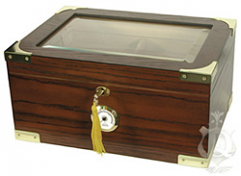 The Prestige 75 Capacity Glasstop Humidor