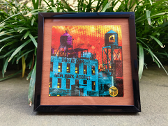 "Acid Framed ""This is our New York Accent"" Cigar Art, 5 x 5"