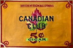 Canadian Club Cigars Vintage Shop Sign Poster, 22 x 15.5