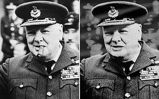 winston churchill altered image